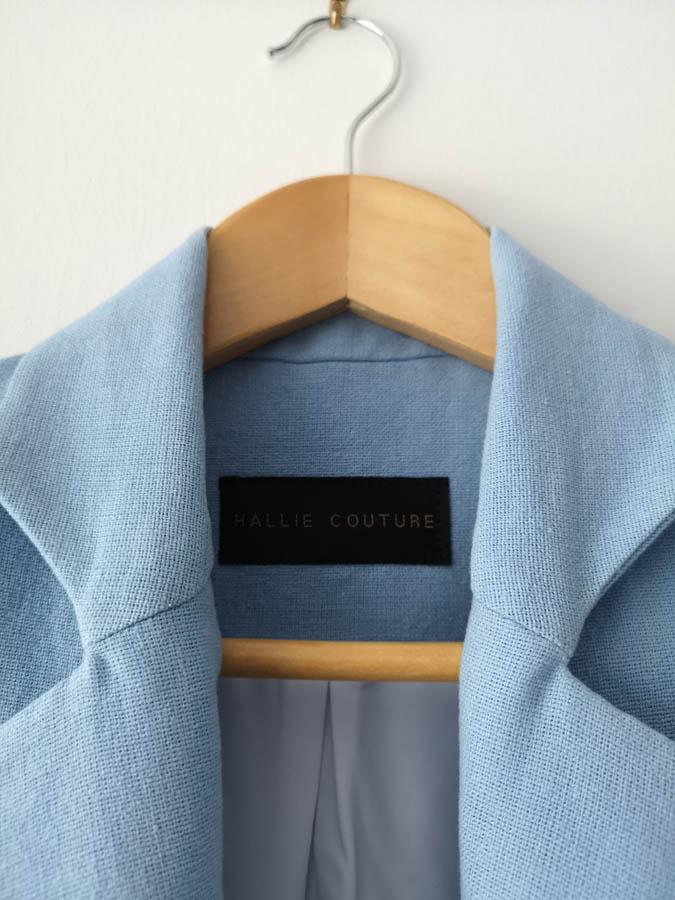 details blue suit