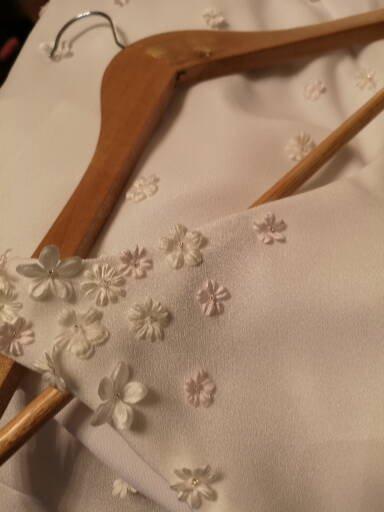flower ivory dress