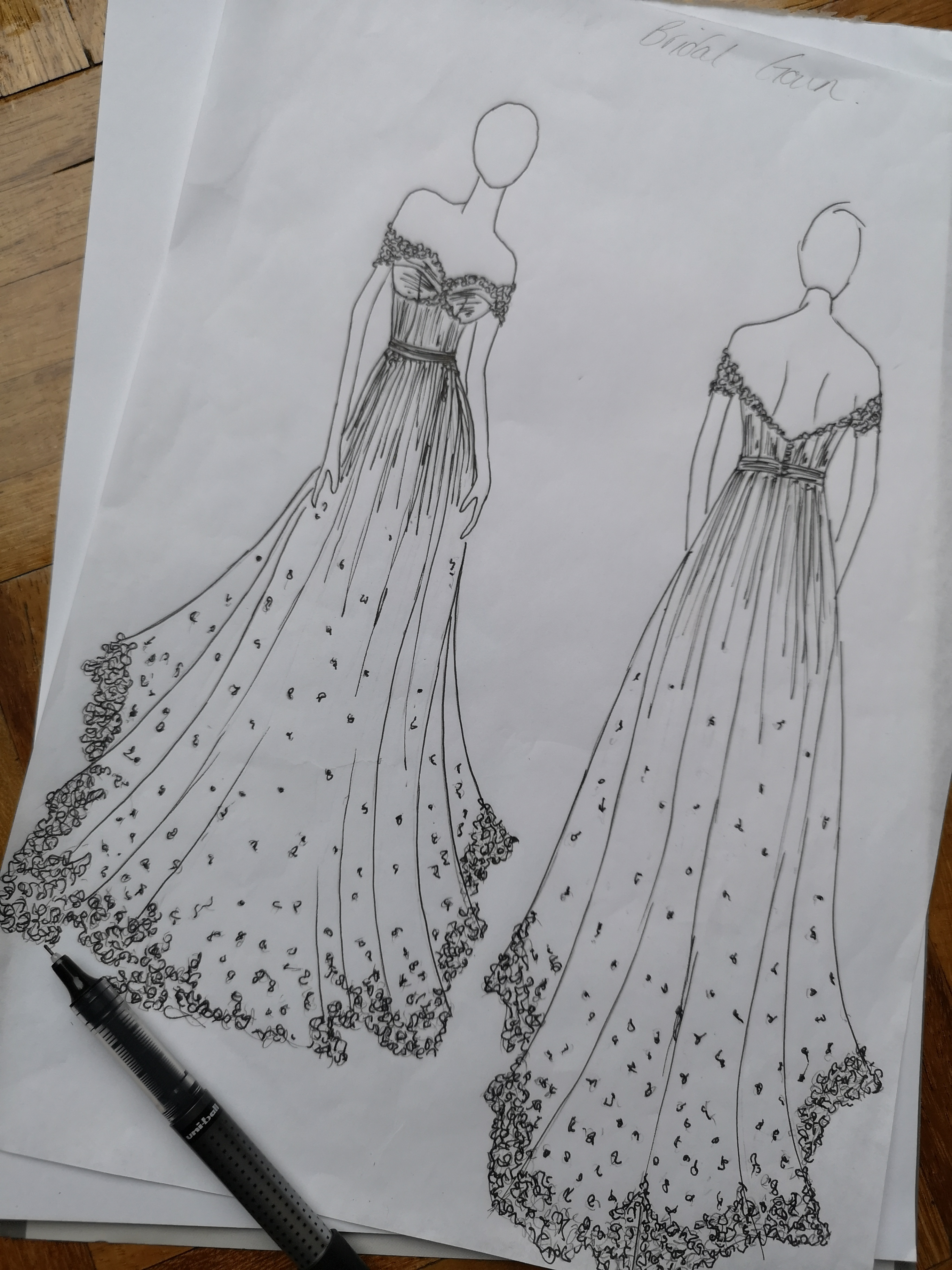 beccas gown sketch