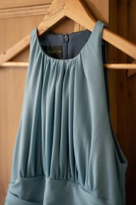 close up shot bridesmaid dress